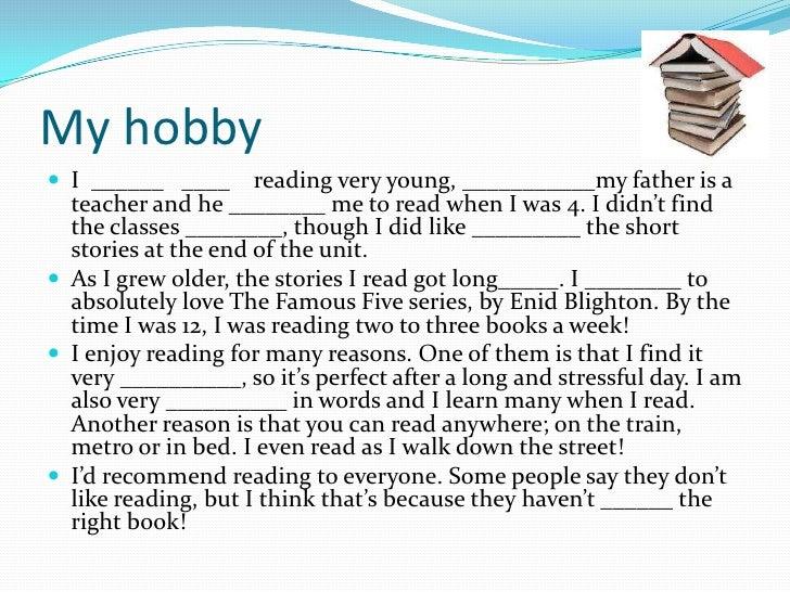 hobbies article my hobby