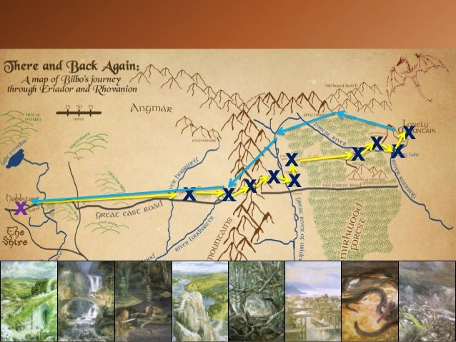 The Hobbit  Mapping Bilbos Journey