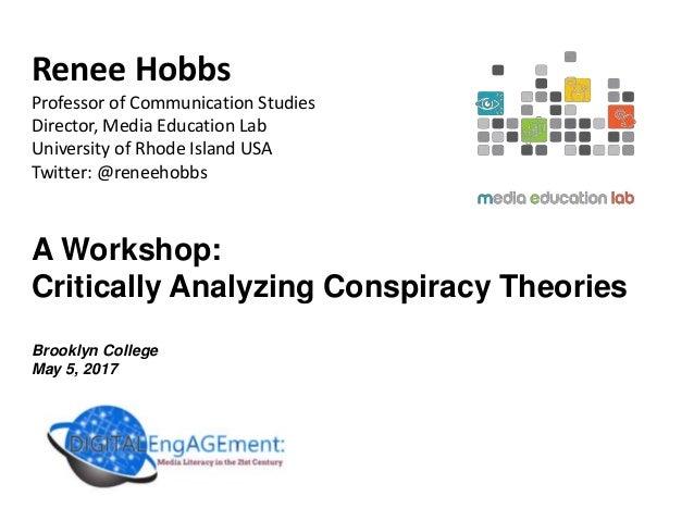 Renee Hobbs Professor of Communication Studies Director, Media Education Lab University of Rhode Island USA Twitter: @rene...