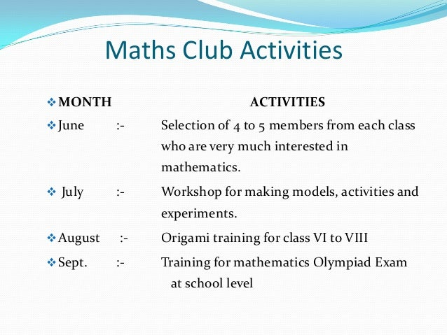 Hobby clubs in jnv