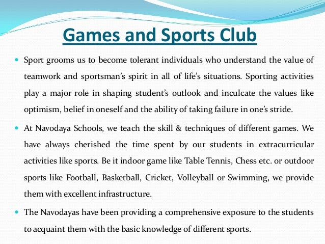 Very short essay on importance of sports