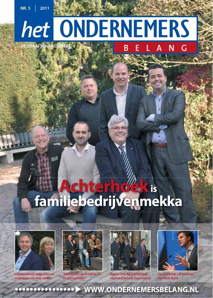 NR. 5         2011    DE GRAAFSCHAP-LIEMERS                              Achterhoek is             familiebedrijvenmekkaLe...