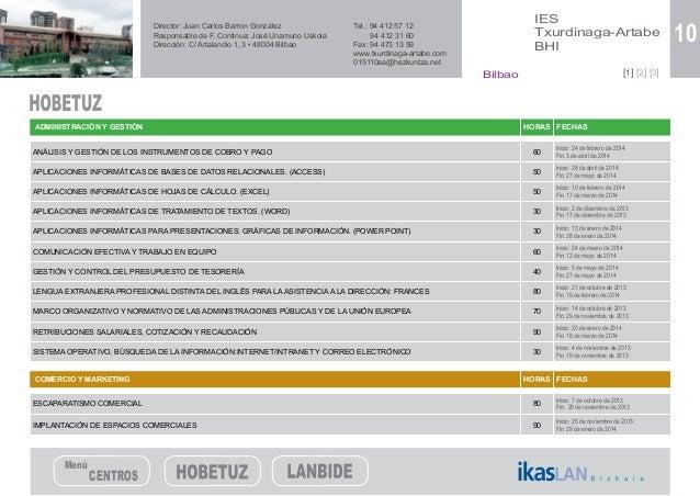 Catalogo Cursos Formacion Hobetuz Y Lanbide 2013 2014