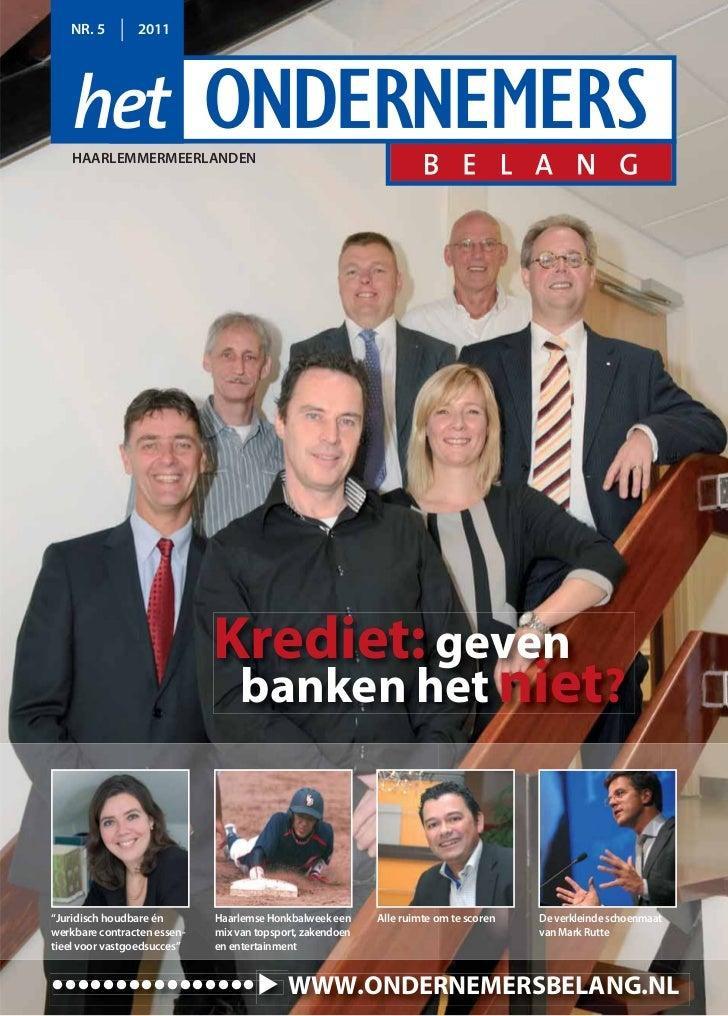 NR. 5        2011   HAARLEMMERMEERLANDEN                             Krediet: geven                              banken he...