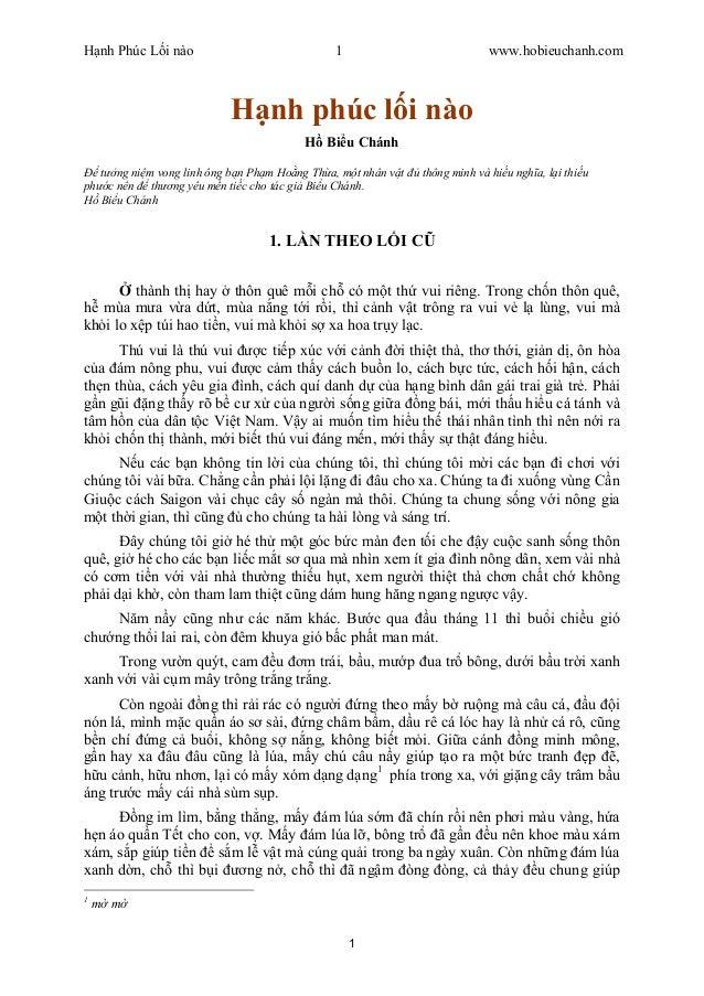 nh Phúc L i nào 1 www.hobieuchanh.com 1 nh phúc l i nào Bi u Chánh t ng ni m vong linh ông b n Ph m Ho ng Th a, m t nhân v...