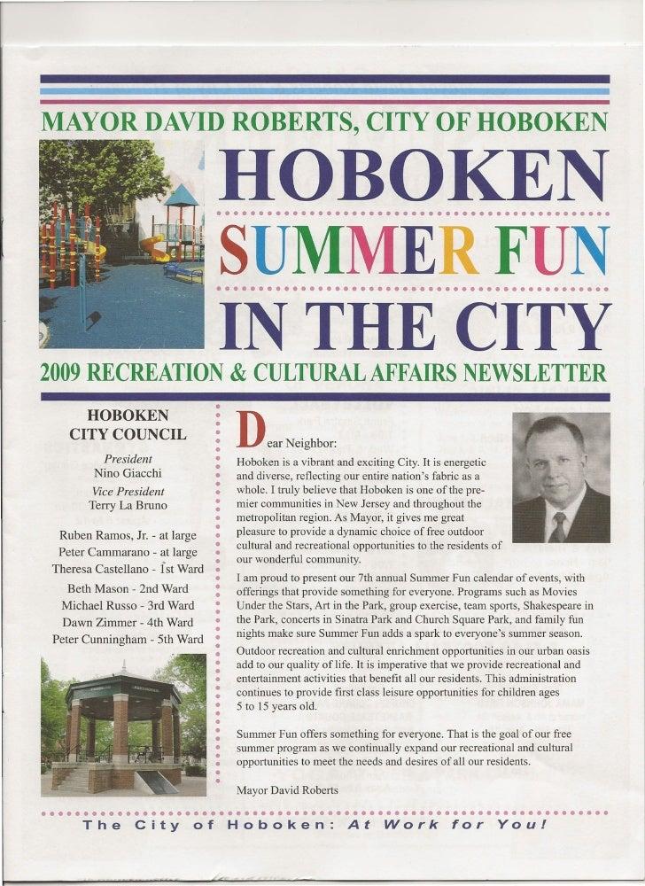 MAYOR DAVID ROBERTS, CITY OF HOBOKEN                                   HOBOKEN                                  • ••••••••...