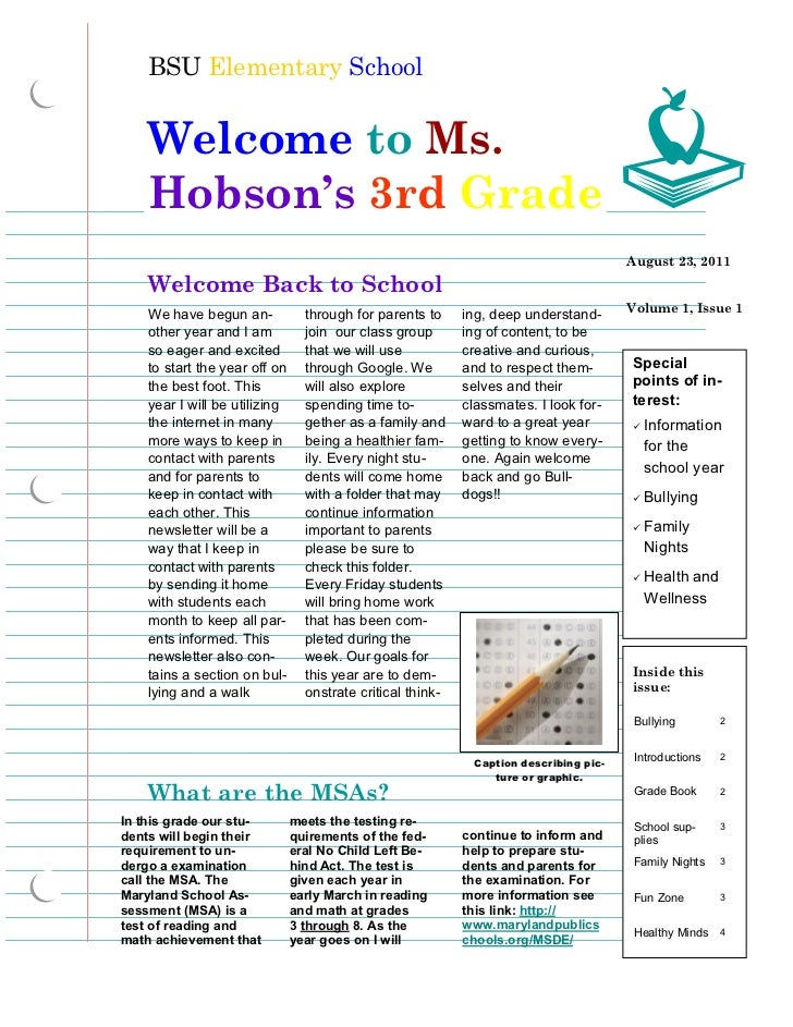 Hobson Back To School Newsletter