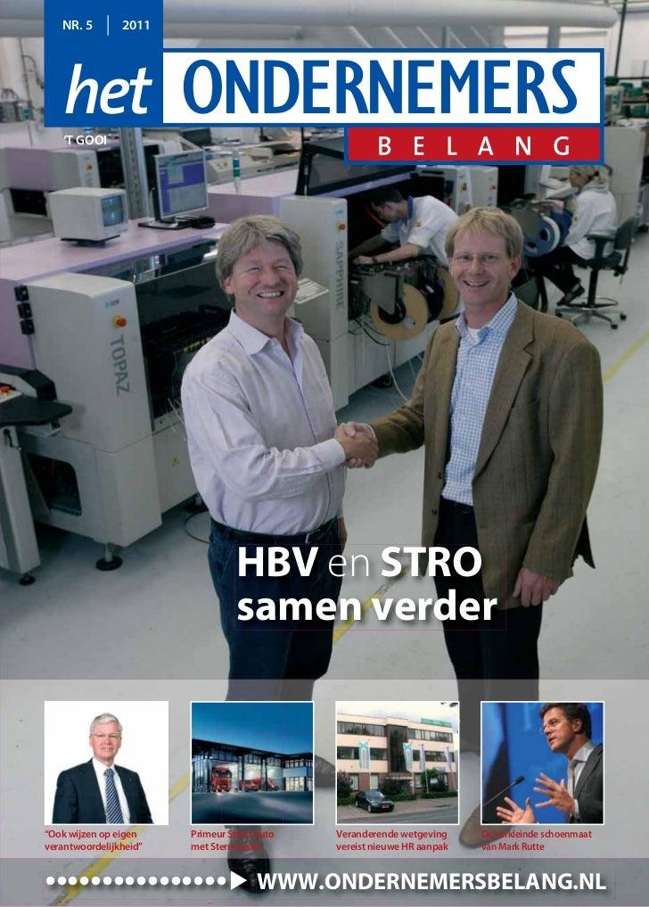 "NR. 5        2011   'T GOOI                                 HBV en STRO                                 samen verder""Ook w..."