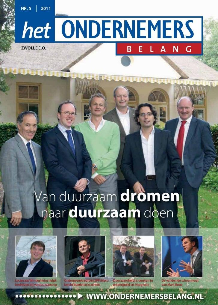 NR. 5        2011    ZWOLLE E.O.            Van duurzaam dromen             naar duurzaam doenLectoraat Windesheim helpt  ...