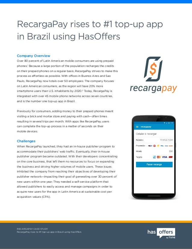 RecargaPay rises to #1 top-up app in Brazil using HasOffers