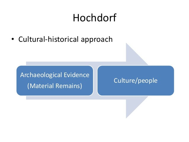 Hochdorf • Cultural-historical approach Archaeological Evidence (Material Remains) Culture/people
