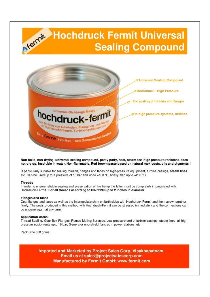 Hochdruck Fermit Universal                              Sealing Compound                                                  ...