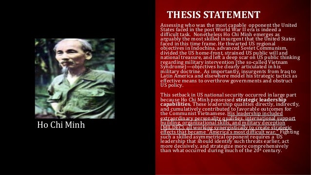 Thesis statement on vietnam war with the us