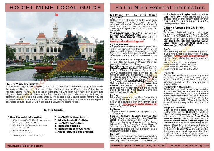 HO CHI MINH LOCAL GUIDE                                                                           Ho Chi Minh Essential in...