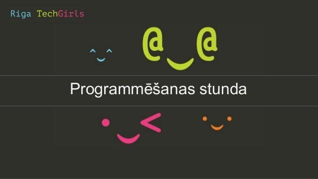 Programmēšanas stunda