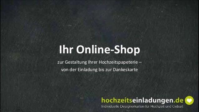 Ihr Online-Shop zur Gestaltung Ihrer Hochzeitspapeterie – von der Einladung bis zur Dankeskarte
