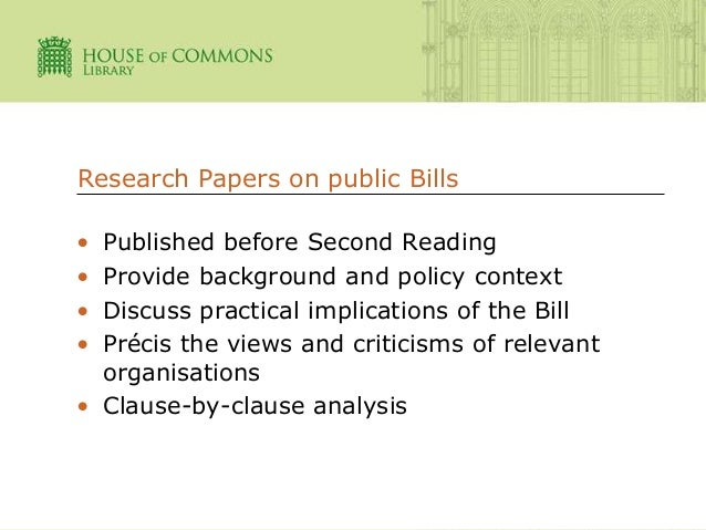 parliamentary library research paper Parliamentary papers are the most detailed primary source for 19th-century britain paper title subject (both related research guides: british parliamentary.