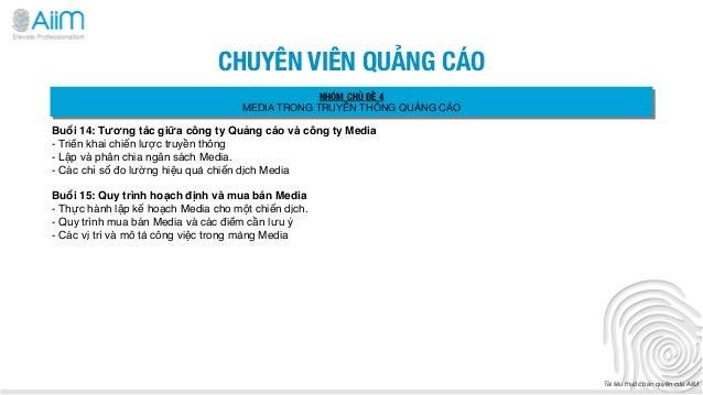 CHUYÊN VIÊN QUẢNG CÁO                                               NHÓM CHỦ ĐỀ 4                                  MEDIA T...