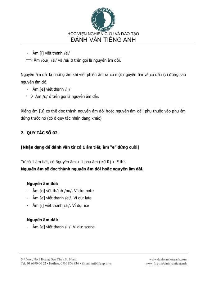 Học Phát âm tiếng Anh bằng các Quy Tắc Đánh Vần (Phần 1) Slide 2
