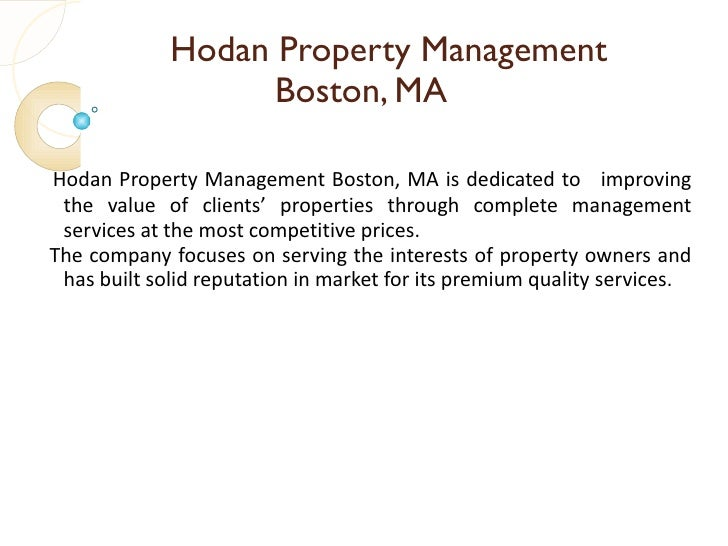 Hodan Property Management Boston Ma