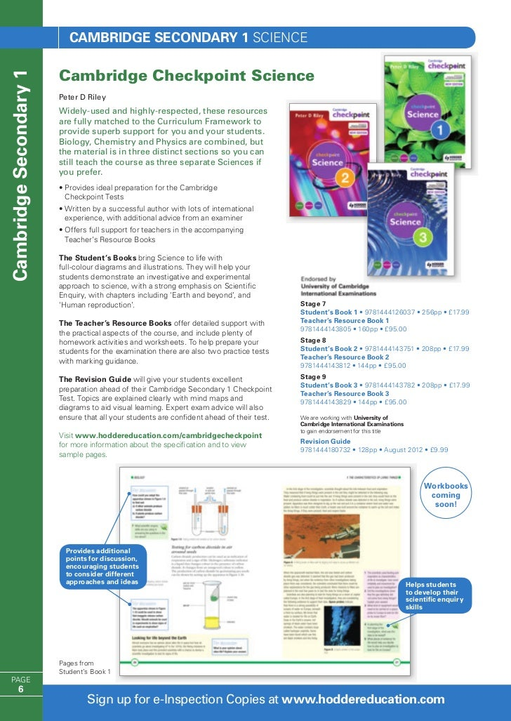 Checkpoint Science Book 2