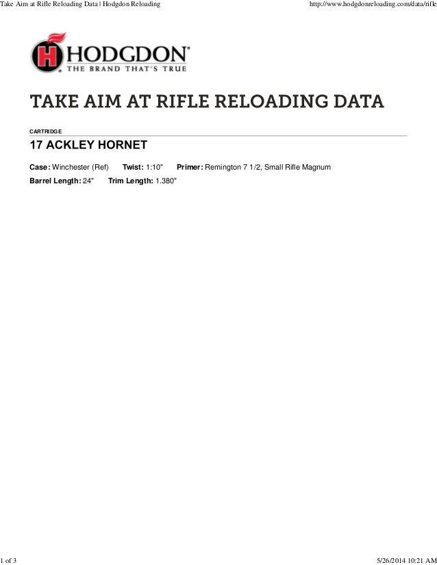 Hodgdon reloading 17 ah load data