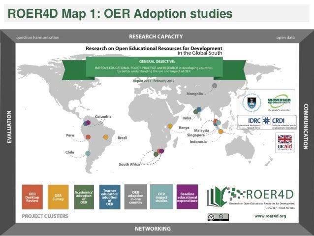 ROER4D Map 1: OER Adoption studies