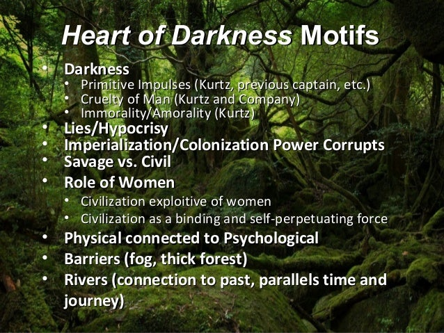 heart of darkness essay kurtz This oral will examine how conrad uses characterization and the aspect of cause and effect as foundations for both kurtz's doings and the consequences of his desire.