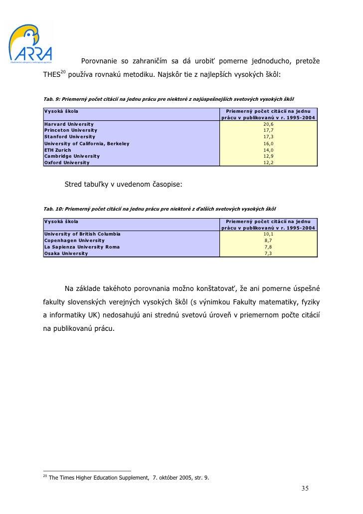 Hodnotenie vysokých škôl a ich fakúlt 2005 c82cbb7d78a