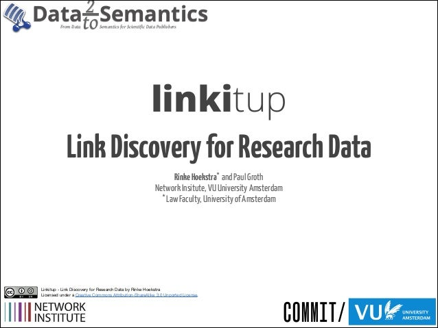 2 Semantics Datato From Data  Semantics for Scientific Data Publishers  linkitup