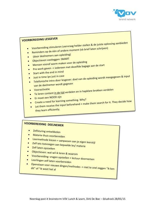 Hoe kunnen we de effici ntie van het leren verbeteren dirk de boe cr - Hoe salon te verbeteren ...
