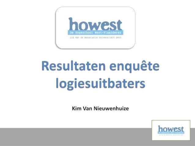  Logiesuitbaters: - Hotels - Gastenkamers - Vakantieverblijven - Campings  Regio Vlaamse Ardennen + regio Meetjesland