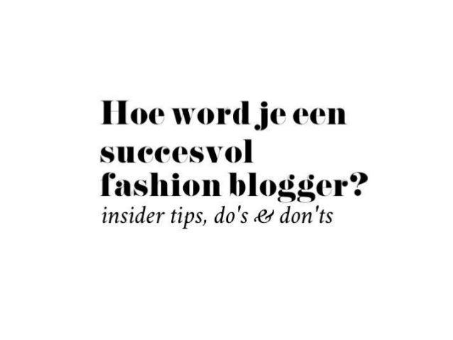 Hoe word je een succesvol fashionblogger Anouk Bos