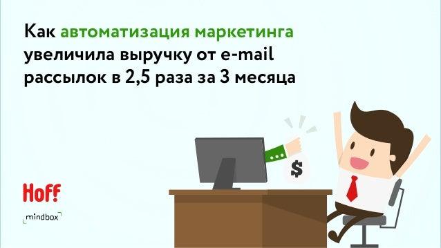 Как автоматизация маркетинга увеличила выручку от e-mail рассылок в 2,5 раза за 3 месяца