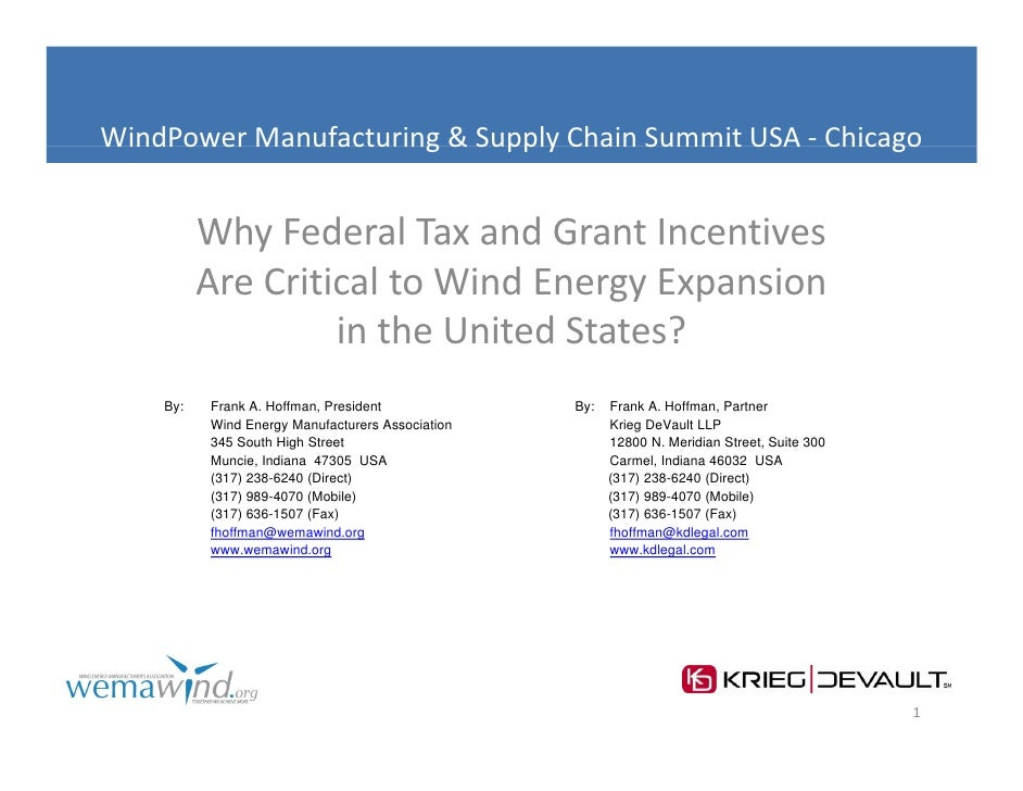 WindPower Manufacturing & Supply Chain Summit USA ‐ Chicago          Manufacturing&SupplyChainSummitUSA          Why...