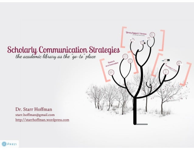 Strategies for Supporting Scholarly Communication