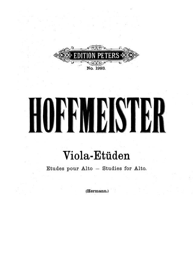 Hoffmeister estudos para viola