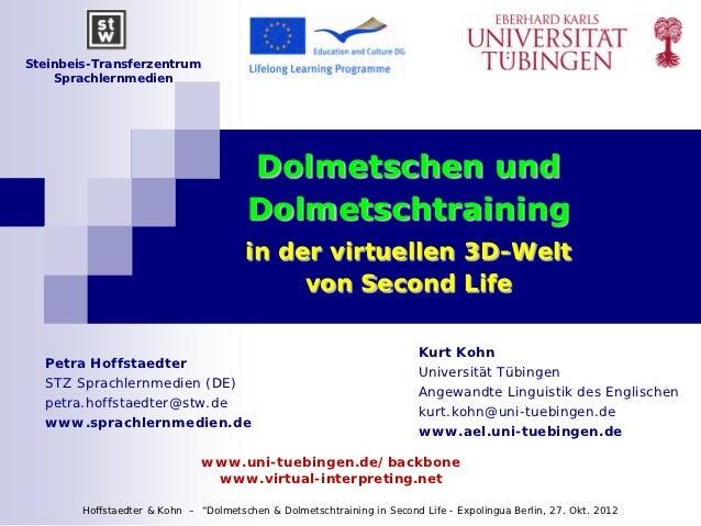Steinbeis-Transferzentrum    Sprachlernmedien                                       Dolmetschen und                       ...
