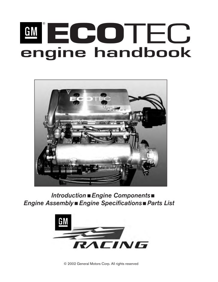 Ⅲ ECOTEC Racing Engine Handbook                                                                                           ...