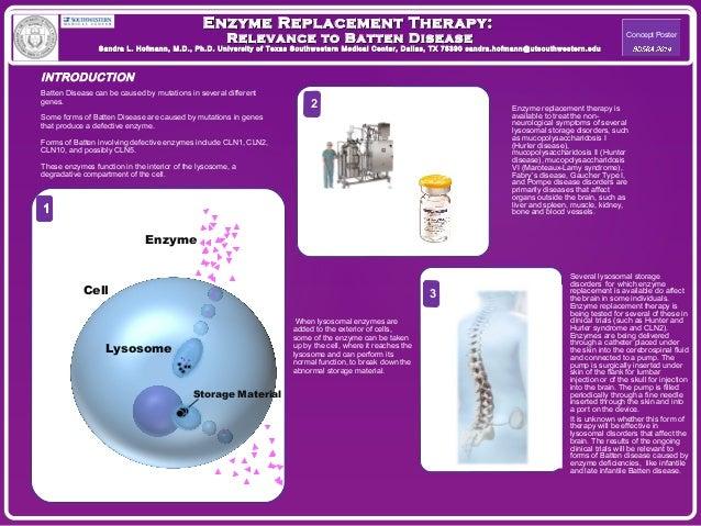 Enzyme Replacement TThheerraappyy::  RReelleevvaannccee ttoo BBaatttteenn DDiisseeaassee  SSaannddrraa LL.. HHooffmmaannnn...