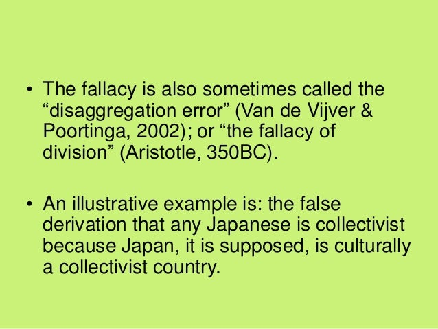 ecological fallacy example