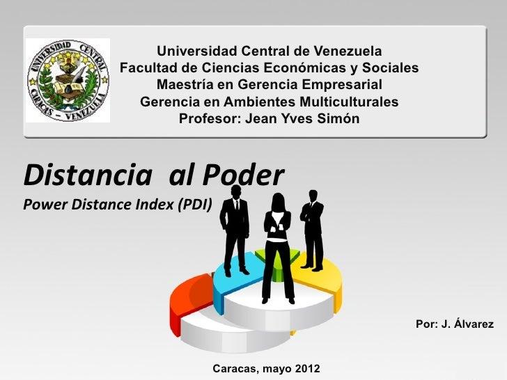 Universidad Central de Venezuela             Facultad de Ciencias Económicas y Sociales                  Maestría en Geren...