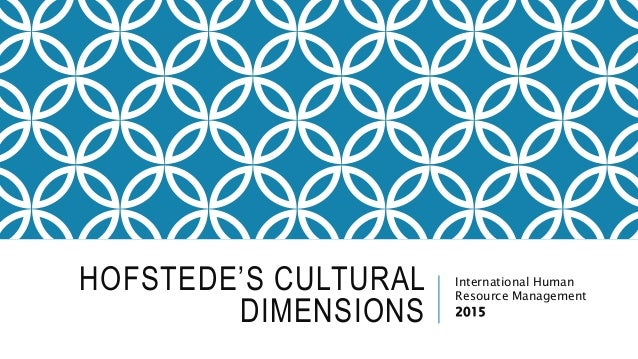Understanding Cultures & People with Hofstede Dimensions
