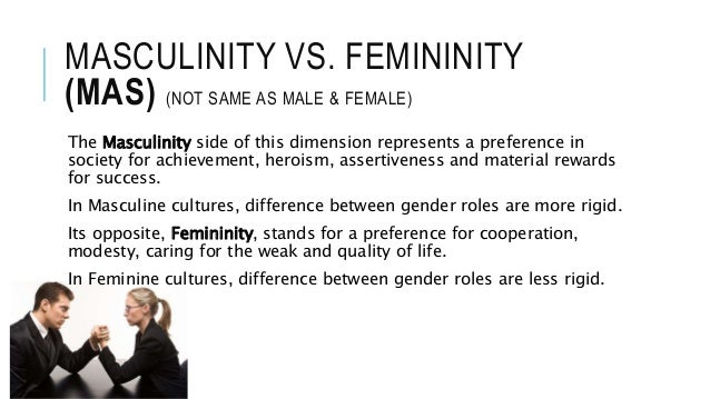 masculinity vs femininity hofstede This study was headed by geert hofstede,  rating of 50 on the masculinity index—an equal mix of masculinity and femininity  allshore virtual staffing,.