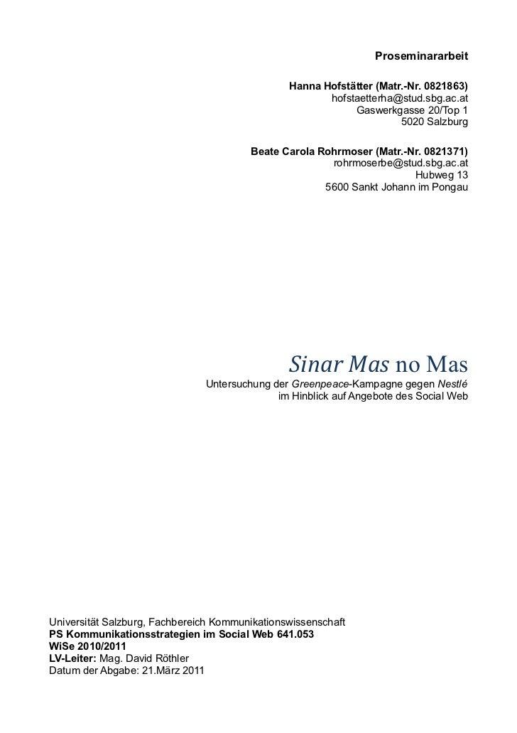 Proseminararbeit                                                Hanna Hofstätter (Matr.-Nr. 0821863)                      ...