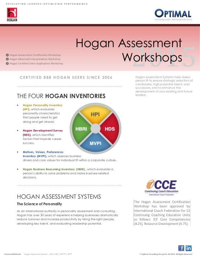 Hogan Test Certification