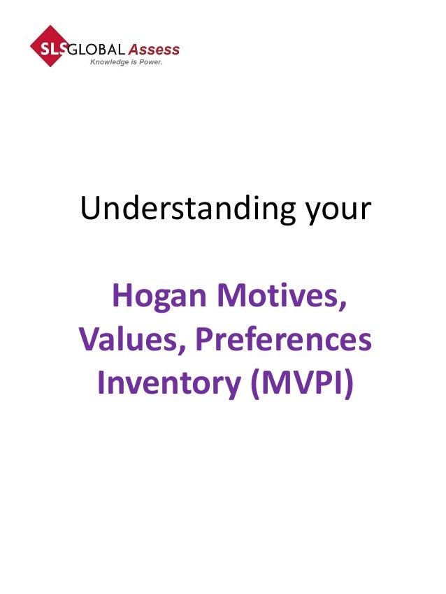 Understanding your  Hogan Motives,Values, Preferences Inventory (MVPI)