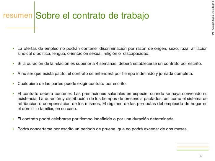 Hogar 2012 el contrato for Contrato de duracion determinada empleada de hogar