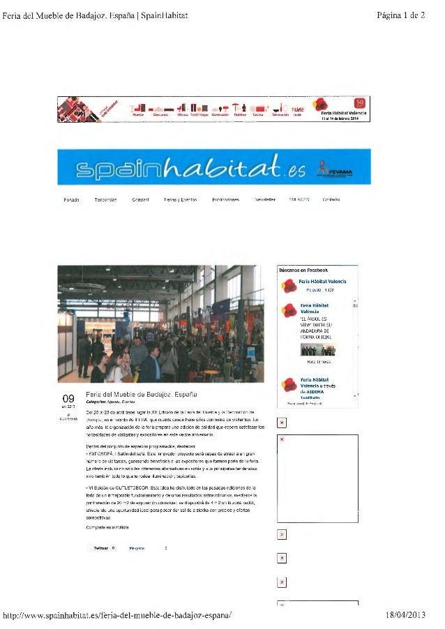Dossier de prensa feria del mueble y decoracion 2013 for Feria del mueble de madrid