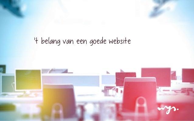 't belang van een goede website